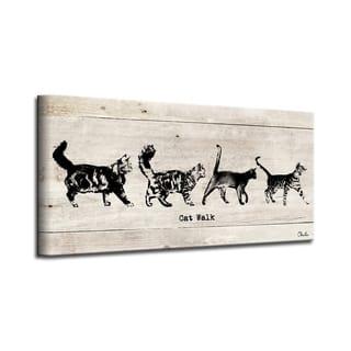 Porch & Den 'Cat Walk' Wrapped Canvas Wall Art