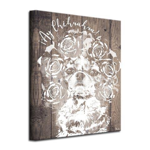 Porch & Den 'Ay Chihuahua' Wrapped Canvas Wall Art