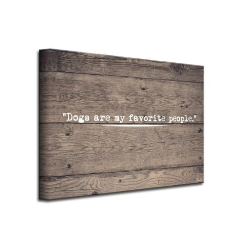 Porch & Den 'Dog People' Wrapped Canvas Wall Art