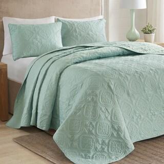 510 Design Hayley 3-Piece king/cal king Size Bedspread Set in Seafoam (As Is Item)