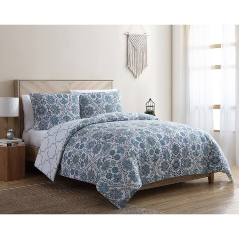VCNY Home Agnes Reversible Floral Duvet Cover Set