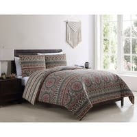 VCNY Home Menkis Reversible Medallion Duvet Cover Set