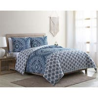 VCNY Home Sullivan Reversible Medallion Duvet Cover Set