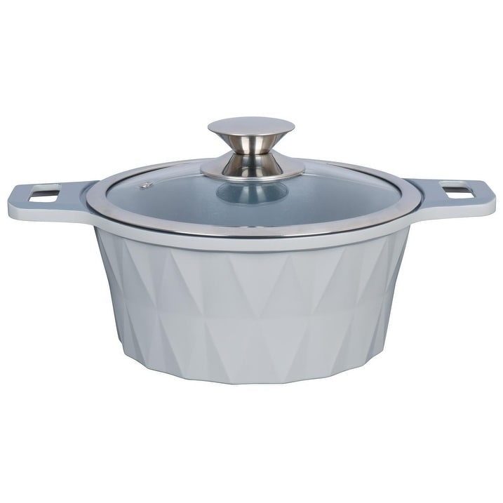 Imperial Cookware - Diamond cut (Dishwasher Safe Hand Wash Recommended - Silver)