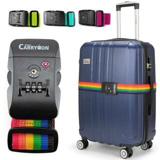 Miami CarryOn Adjustable Luggage Strap with a TSA Combination Lock