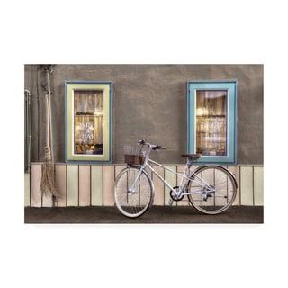 Alan Blaustei 'Cafe Bike Ride' Canvas Art