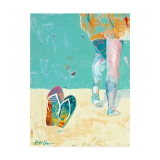 Pamela K. Bee 'Flip Flops on the Beach' Canvas Art