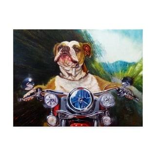 Lucia Hefferna 'Born To Be Wild Bulldog' Canvas Art