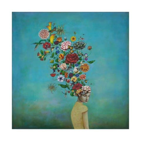 Duy Huyn 'A Mindful Garden' Canvas Art