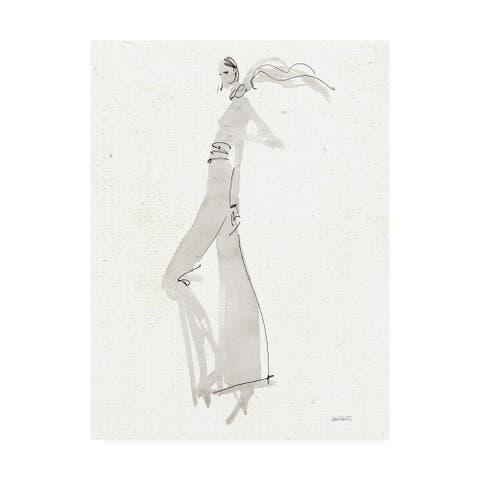 Anne Tavoletti 'La Fashion III Gray v2' Canvas Art