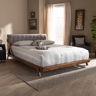Link to Carson Carrington Ulvsta Mid-century Fabric Platform Bed Similar Items in Bedroom Furniture