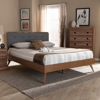 Carson Carrington Ulas Mid-century Fabric Platform Bed