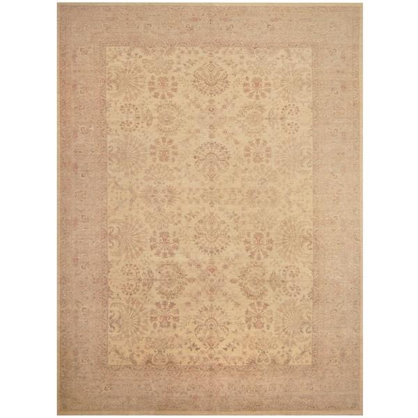 Handmade One-of-a-Kind Vegetable Dye William Morris Wool Rug (Afghanistan) - 9'10 x 13'7