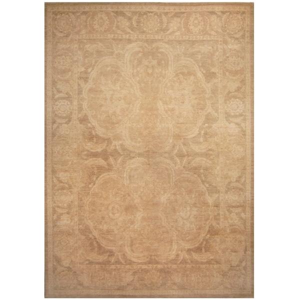 Handmade One-of-a-Kind Vegetable Dye William Morris Wool Rug (Afghanistan) - 9'10 x 14'