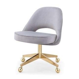 M84 Velvet Rolling Office Chair