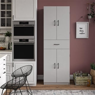 Avenue Greene Malden Storage Dove Grey Cabinet with Drawer