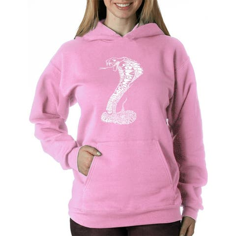 Women's Word Art Hooded Sweatshirt -Tyles of Snakes - LA Pop Art