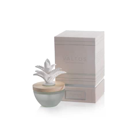 Valtos Porcelain Diffuser, Fox Tail Agave - Gold, White