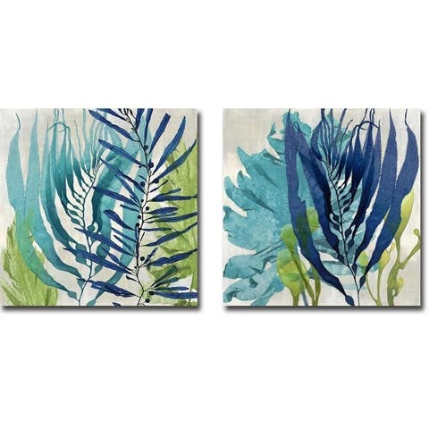 Artistic Home Gallery Melonie Miller 'Sea Nature I & II' Canvas Giclee Art Set (Set of 2)