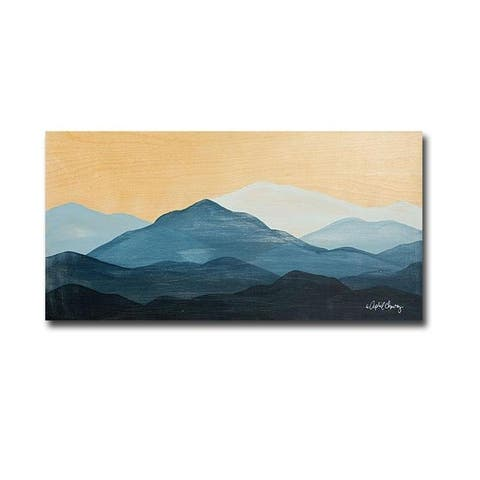 Artistic Home Gallery April Chavez 'Blue Ridge Mountain Range II' Canvas Giclee Art