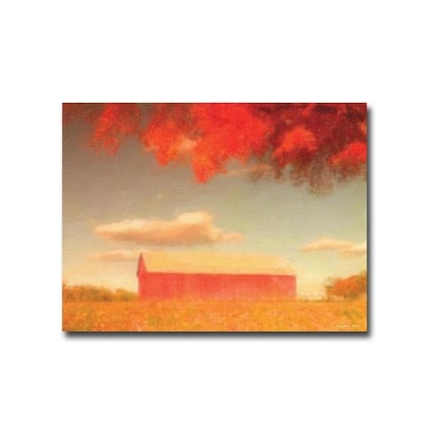 Artistic Home Gallery Graffitee Studios 'Barn in Fall' Gallery-wrapped Canvas Giclee Art