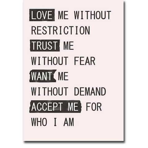 Love Me 1 by Design Fabrikken Gallery Wrapped Canvas Giclee Art (35 in x 25 in)
