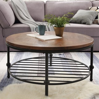 Carbon Loft Horan Natural Round Coffee Table
