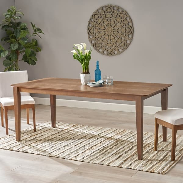 Inson Rectangular 8 Seat Farmhouse Dining Table By