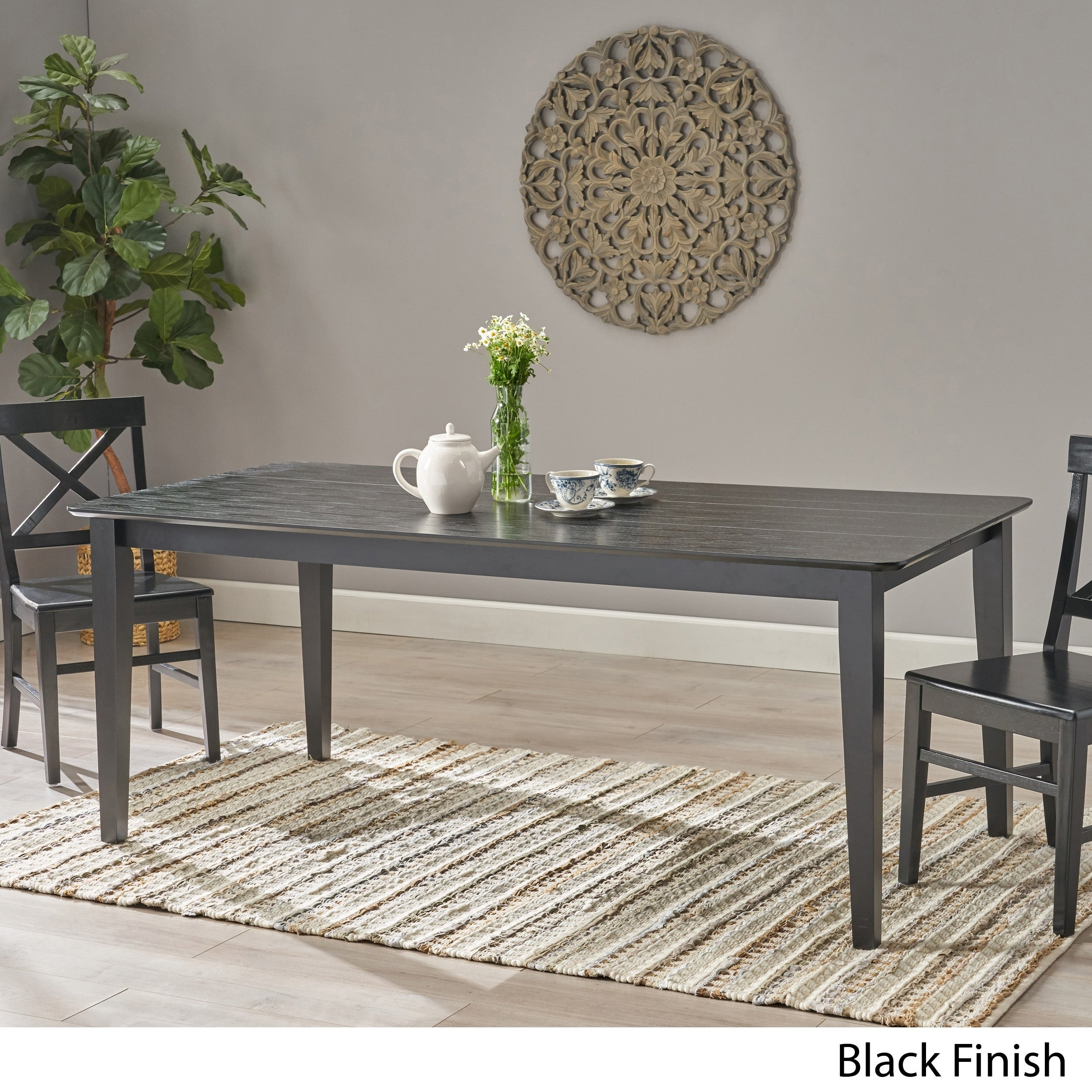Inson Rectangular 8 Seat Farmhouse Dining Table By Christopher Knight Home