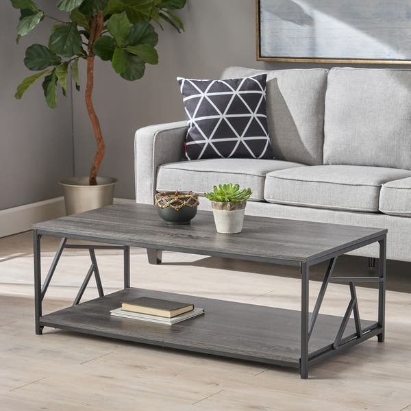 Shop Yorkridge Industrial Modern Coffee Table By Christopher Knight Home On Sale Overstock 28038256