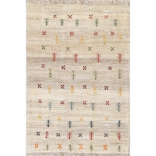 """Gabbeh Tribal Hand Knotted Wool Oriental Persian Area Rug - 4'9"""" x 3'6"""""""