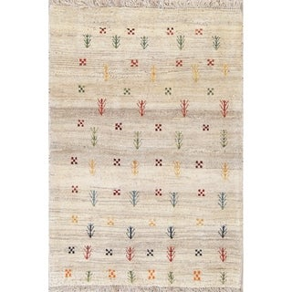 "Gabbeh Tribal Hand Knotted Wool Oriental Persian Area Rug - 4'9"" x 3'6"""