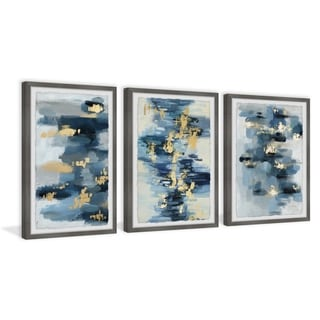 Marmont Hill - Handmade Blue Florals Triptych