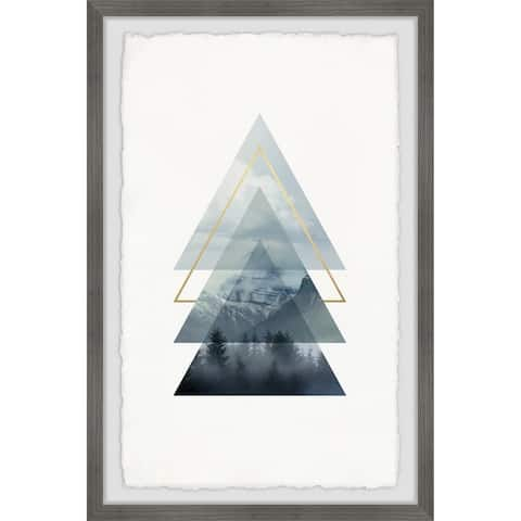 Marmont Hill - Handmade Triangle Pines Framed Print