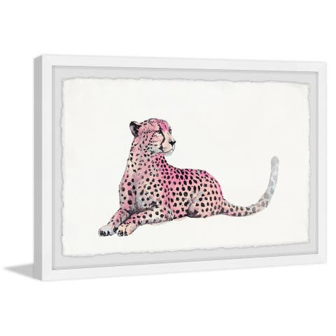 Silver Orchid Handmade Pink Cheetah Framed Print