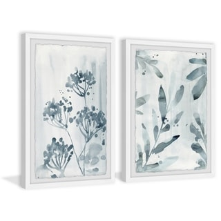 Handmade Mystery Blooms Diptych