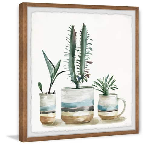 Handmade Layers of Colors Framed Print