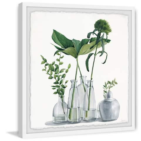 Porch & Den 'Clear Greens' Framed Painting Print