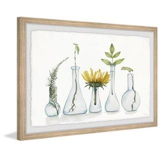 Handmade Bloom and Flask Framed Print