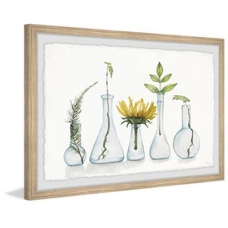 Handmade Bloom and Flask Framed Print