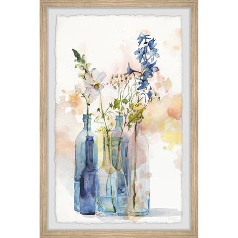 Handmade Bottle Blues Framed Print