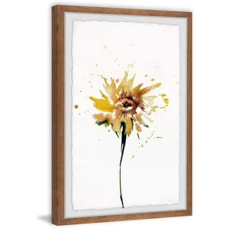 Strick & Bolton Handmade Sunflower Smudge Framed Print
