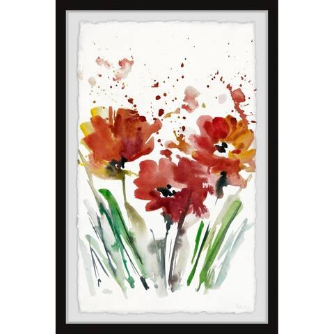 Handmade Flowers Smudge Framed Print