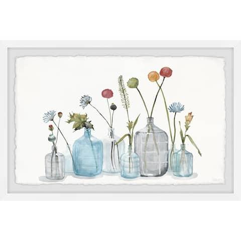 Handmade Bottles for the Blooms Framed Print
