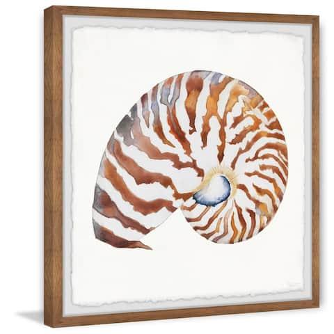 Handmade Tiger Shell Framed Print
