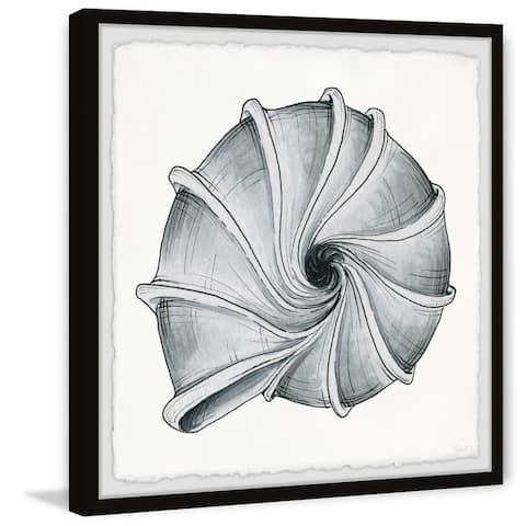 Handmade Twirling Shell Framed Print