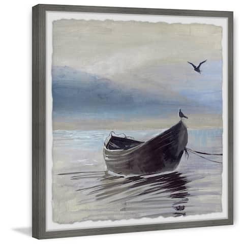 The Gray Barn Handmade Little Brown Boat Framed Print