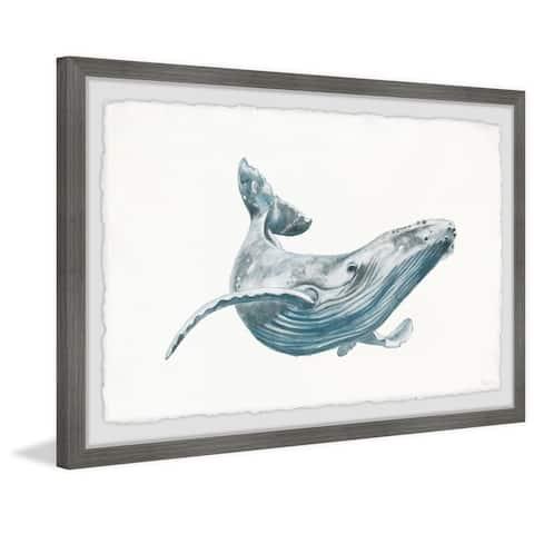 Handmade The Big Whale Framed Print