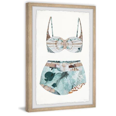 Handmade Under the Sea Swimsuit Framed Print