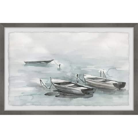 The Gray Barn Handmade Wooden Boats Framed Print